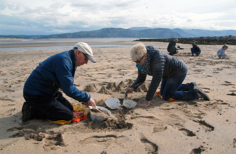 Katie Paterson ,  First There is A Mountain  event at   Mostyn, Llandudno (West Shore Beach), 19 May 2019 (Photo credit: Lin Cummins)