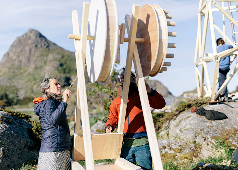 "Futurefarmers , Wind Theatre, outdoor sculpture for LIAF 2019. Photographer: Dan Mariner on commission for Bodø Kommune as part of their ""European Capital of Culture 2024 Candidate application""."