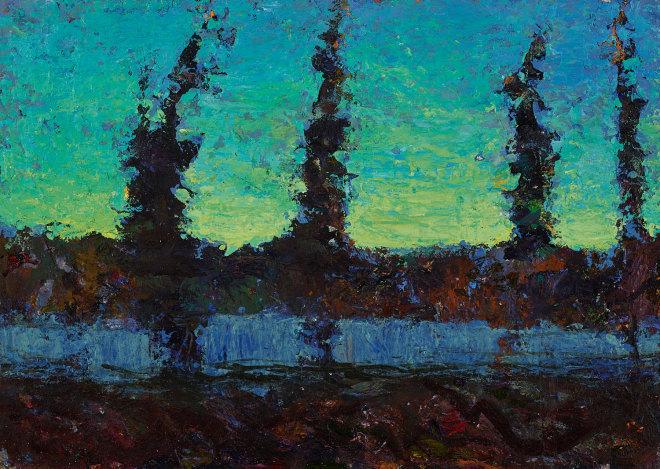 Allan MacDonald ,  homage, Belladrum , 2019, oil on canvas, 30cm x 40cm