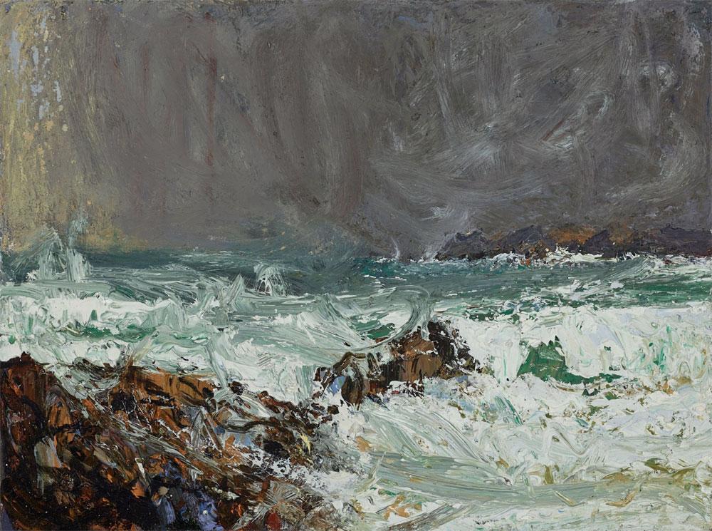 Allan MacDonald ,  raging, Mangersta 2 , 2019, oil on canvas, 30cm x 40cm