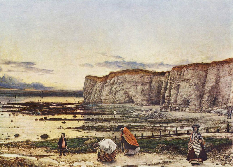 William Dyce ,  Pegwell Bay, Kent – a Recollection of October 5th 1858 , 1860, oil on canvas, 635 x 889cm.