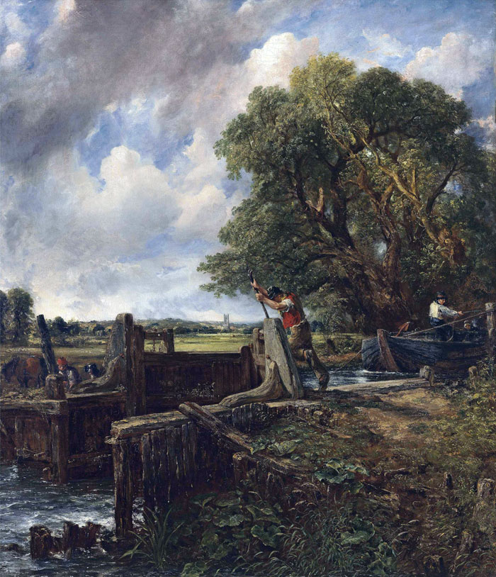 John Constable ,  The Lock , 1824, oil on canvas.