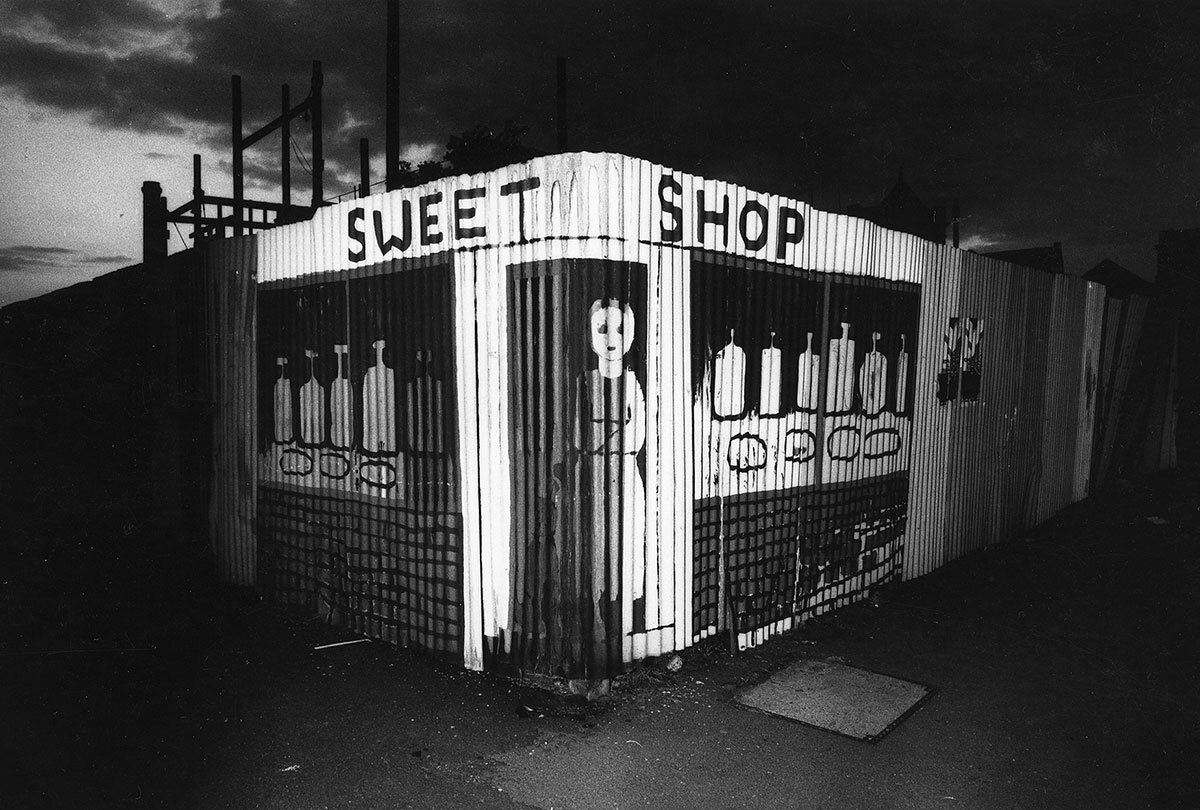 Norrie Maclaren ,  Sweet Shop 1 , gold silk print, 30 x 40 cm. (Image courtesy Resipole Studios and Fine Art Gallery)