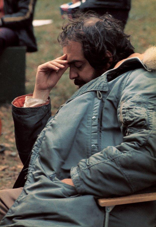 Norrie Maclaren ,  Stanley Kubrick , gold silk print, 40 x 30 cm. (Image courtesy Resipole Studios and Fine Art Gallery)