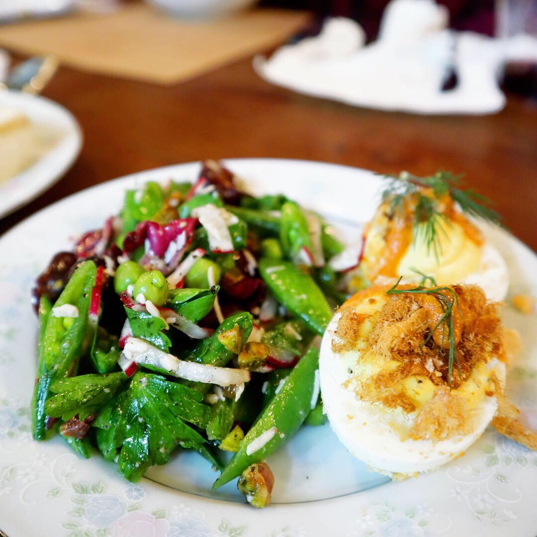 Salad and Deviled Eggs