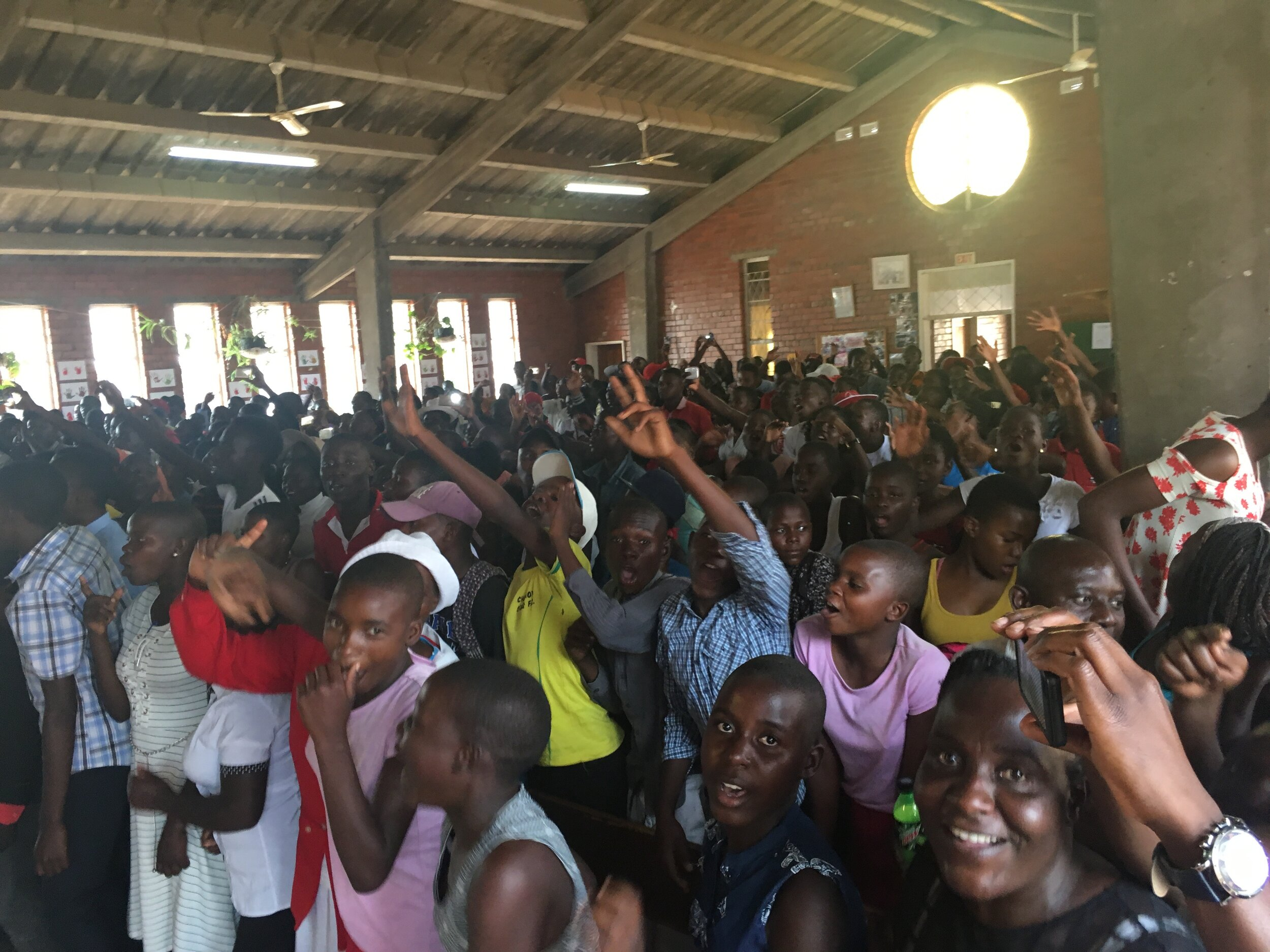 College Days at Zimbabwe Christian College. We supported 250 plus teenagers!