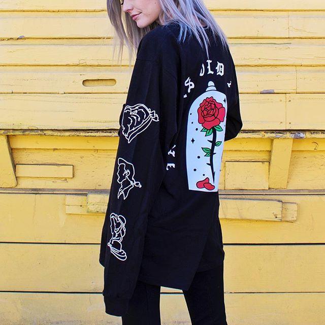 The Enchanted Rose Long Sleeve for @disneylandclub55 available online now! • • • #EnchantedRose #club55 #merch #merchdesign #disneyfashion #disneymerch #disneymerchandise #disneygram #disneywear #disneyclothing #instadisney #streetwear