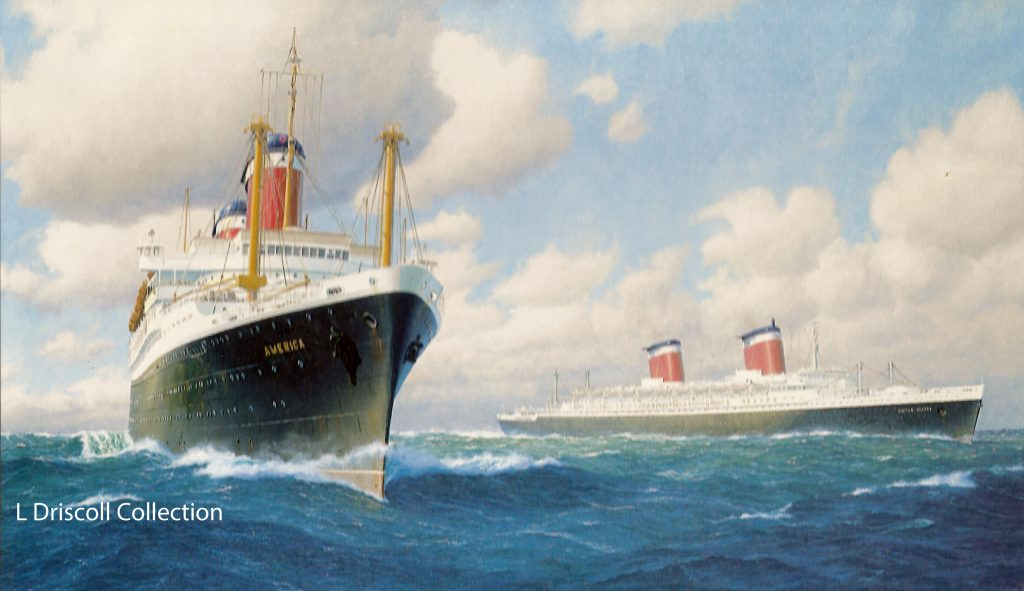 S.S. America (left) and S.S. United States (right)