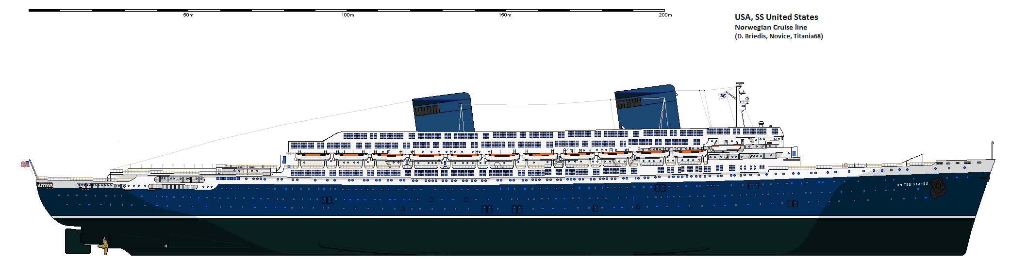 The S.S. United States design for NCL America