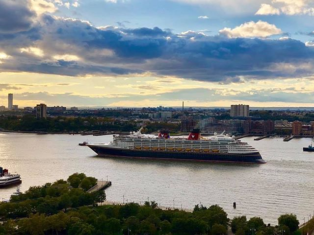 Breath taking. Guess this #Disney ship leaving #NYC!