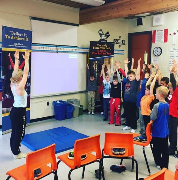 Community Outreach - Ellie travels to various schools across Nova Scotia, working with students as part of the 'Future Hall of Famers' initiative, presented by the Nova Scotia Sport Hall of Fame.