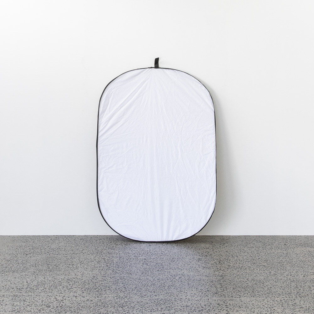 Pop out reflector 120x180 - $10.00 + GST | Includes white, black, silver, gold