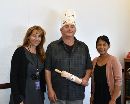 L to R: DCAO/Auditor and Controller/Bake-Off Judge Tracy Sandoval, Pete Jacovino and CECO President Mavette Sadile.