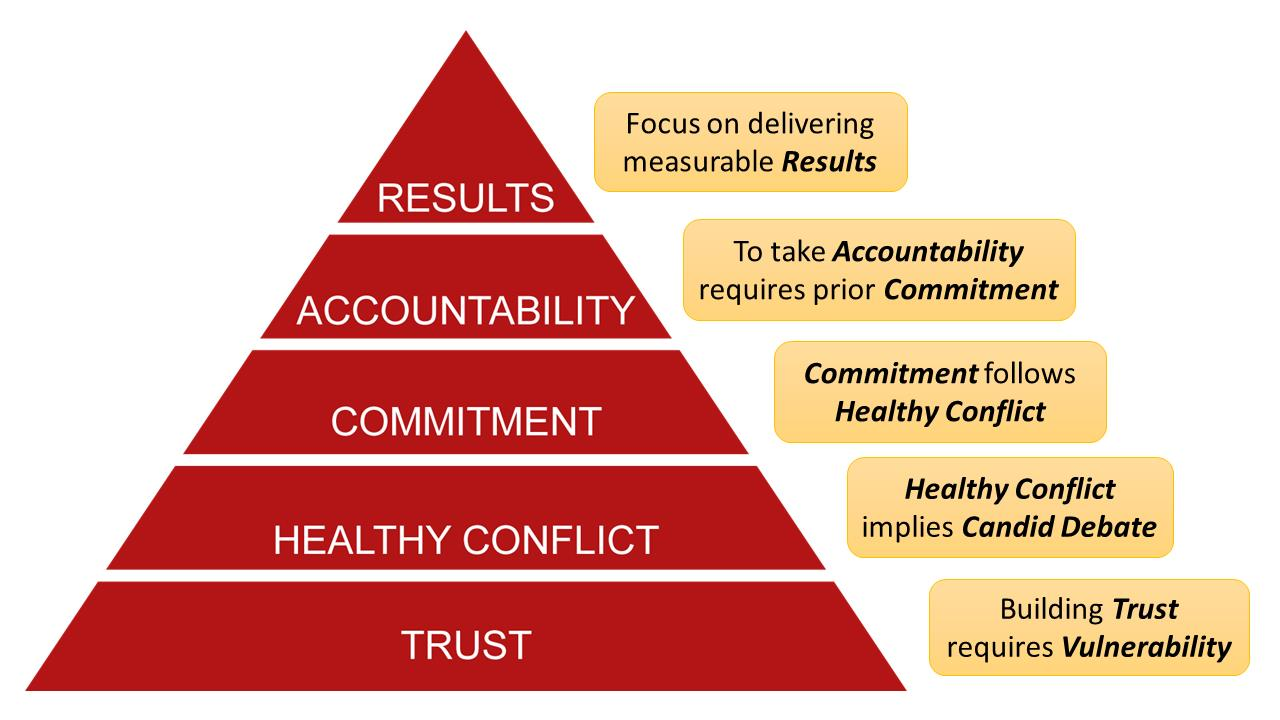 """From the book """"The Five Dysfunctions of a Team"""" by Patrick Lencioni."""