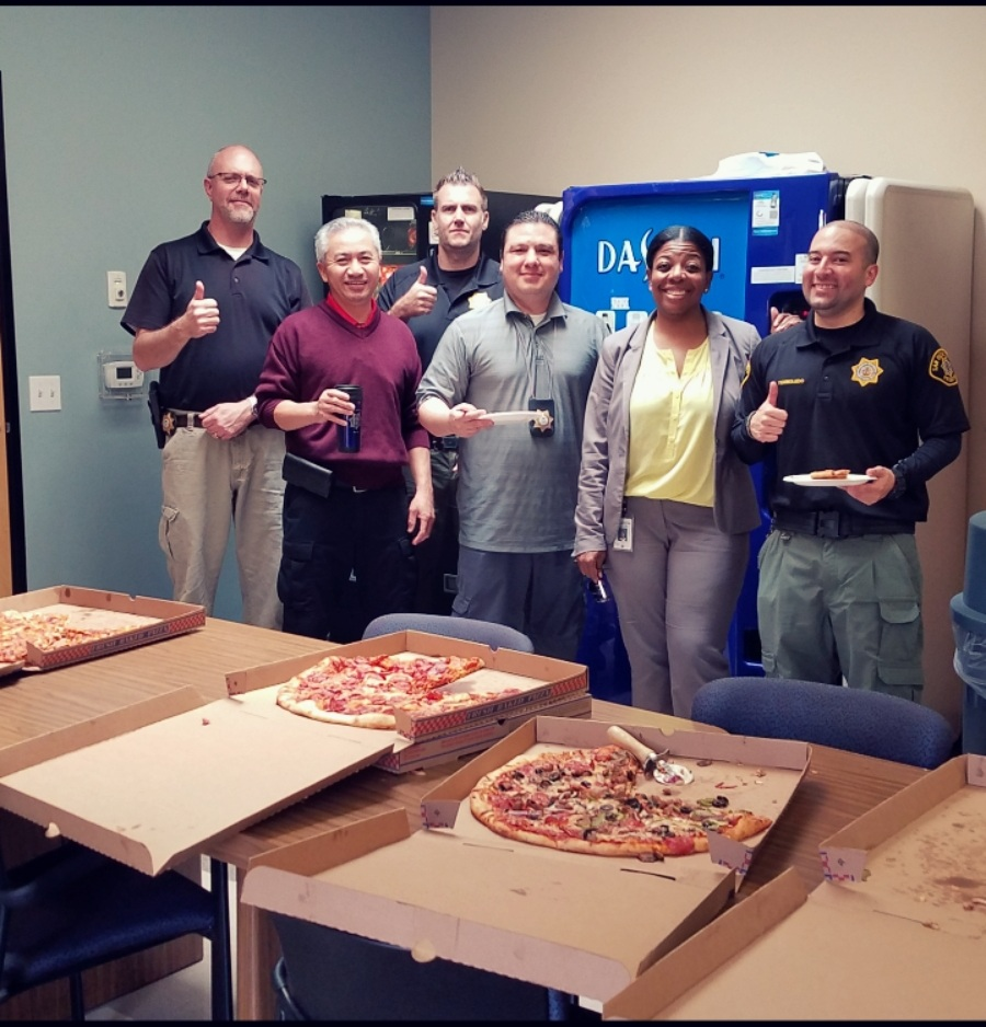 The South Bay Regional Probation Offices Celebrated Staff Appreciation Day with a pizza lunch.