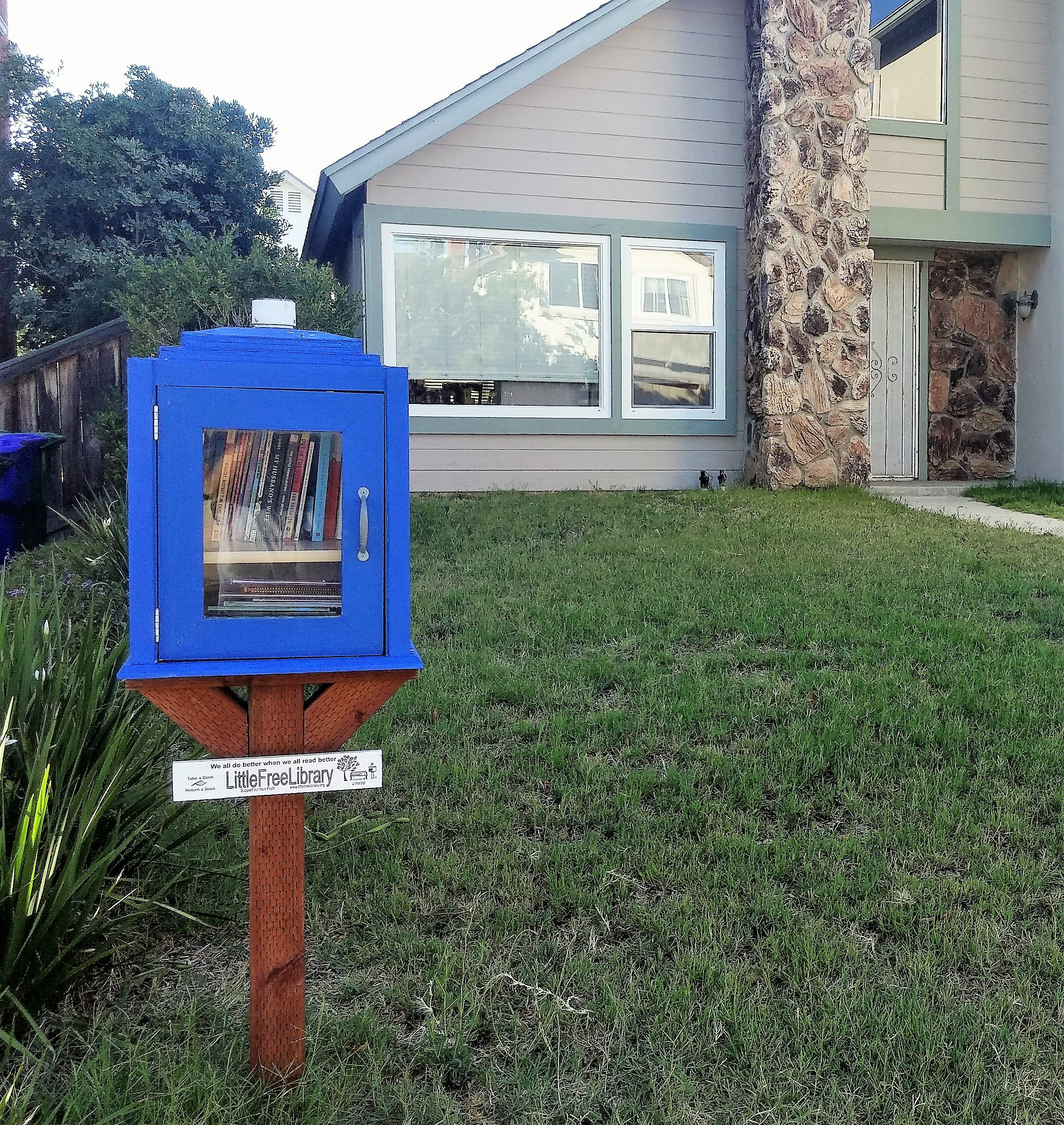Jennifer Lawson's Little Free Library in Rancho Penasquitos