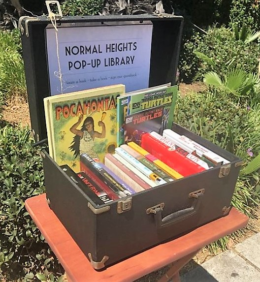 Laura Mendez' Little Free Library in Normal Heights