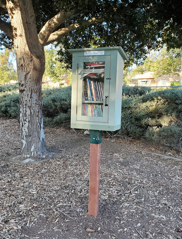 A Little Free Library near Eyah Swambat's home in Santee