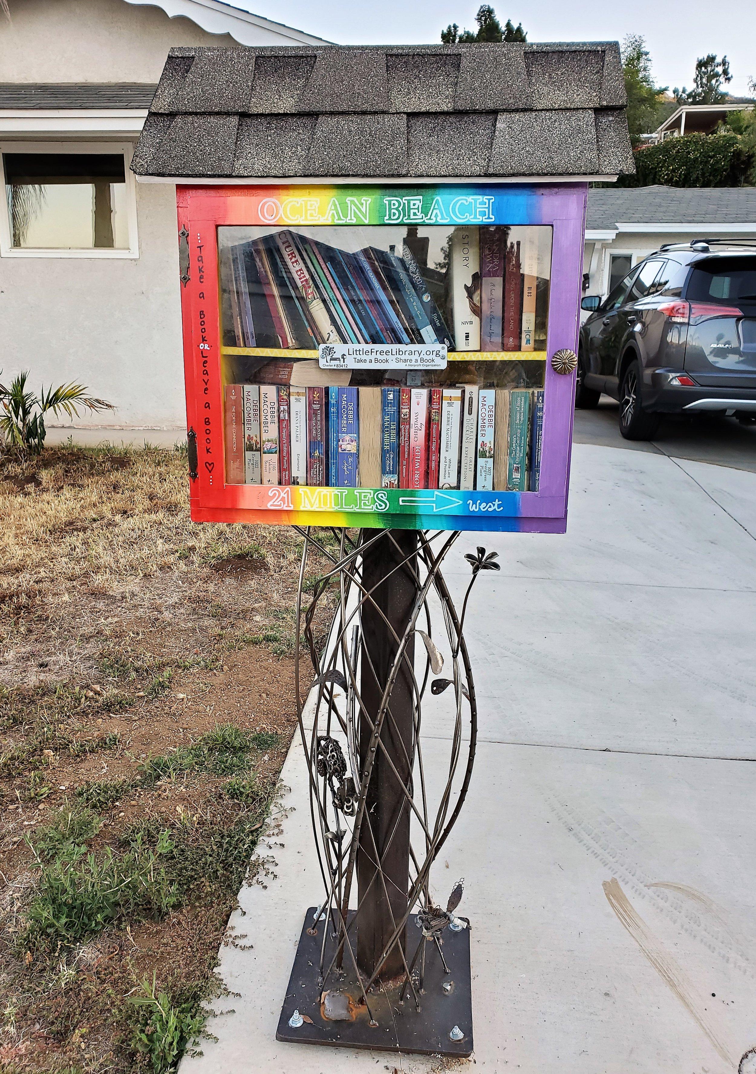 Another Little Free Library in Eyah Swambat's neighborhood in Santee