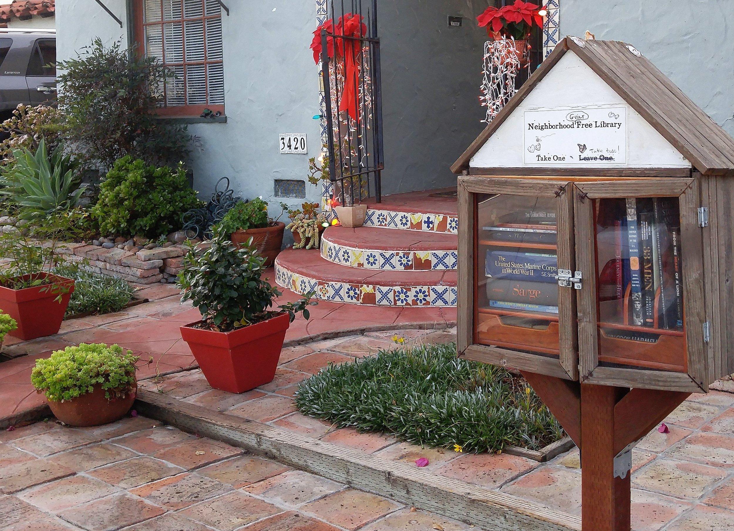 A Little Free Library in Monica Parks' neighborhood near Balboa Park