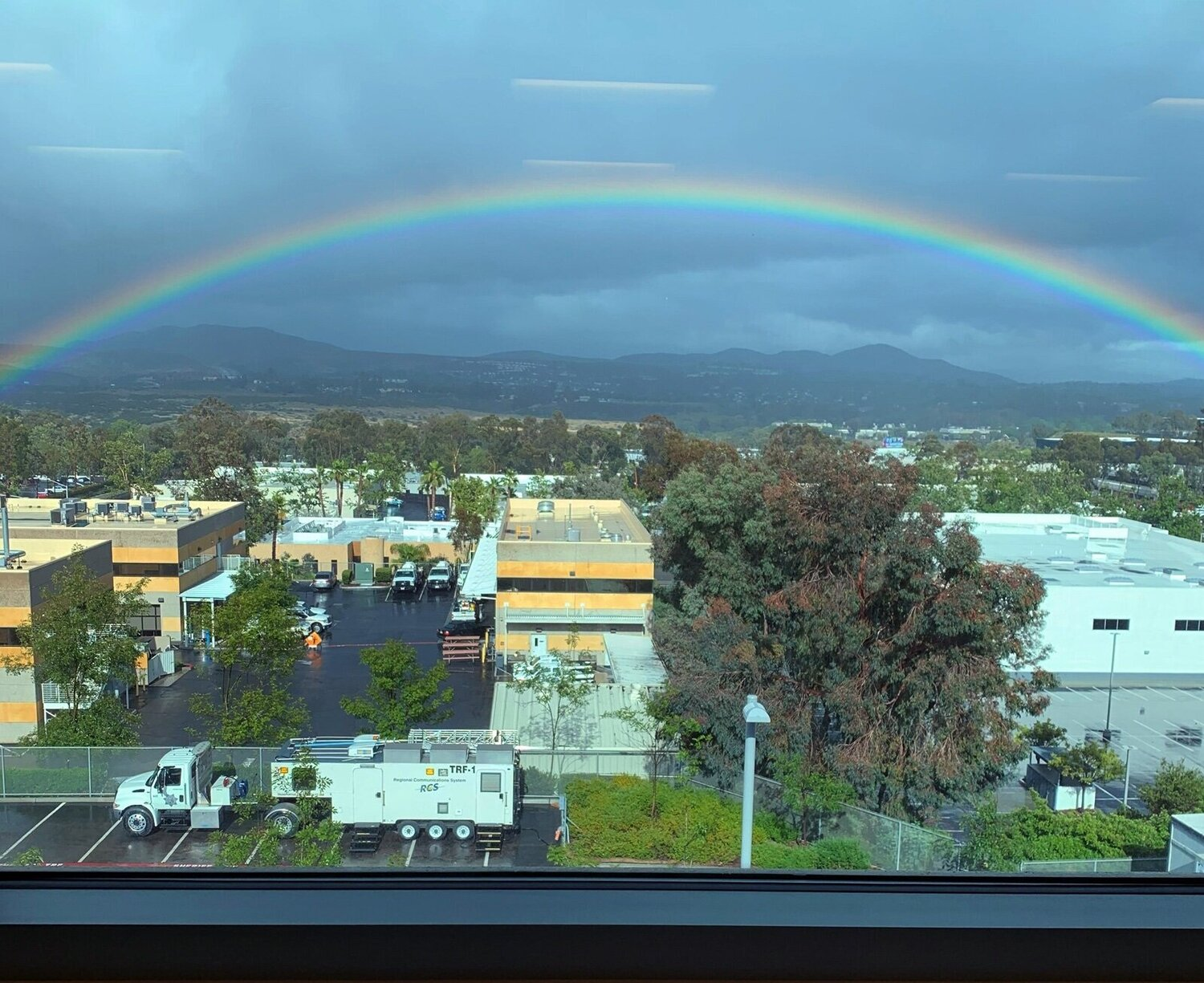 Rainbow from the County Operations Center. 📷: Auditor & Controller Associate Accountant Jill Romero.