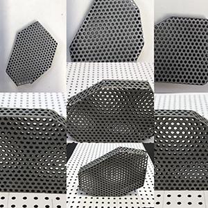 perforated mild steel.