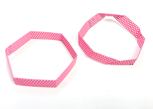 pink bangles.
