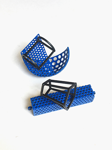 """Brass and perforated mild steel. (""""Close to Emptiness 1"""" )"""