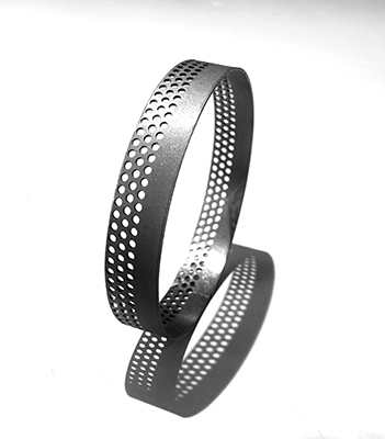 round half perforation and half flat sheet bangle with its shadow.