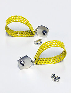day53 yellow drops with silver stud2.jpg