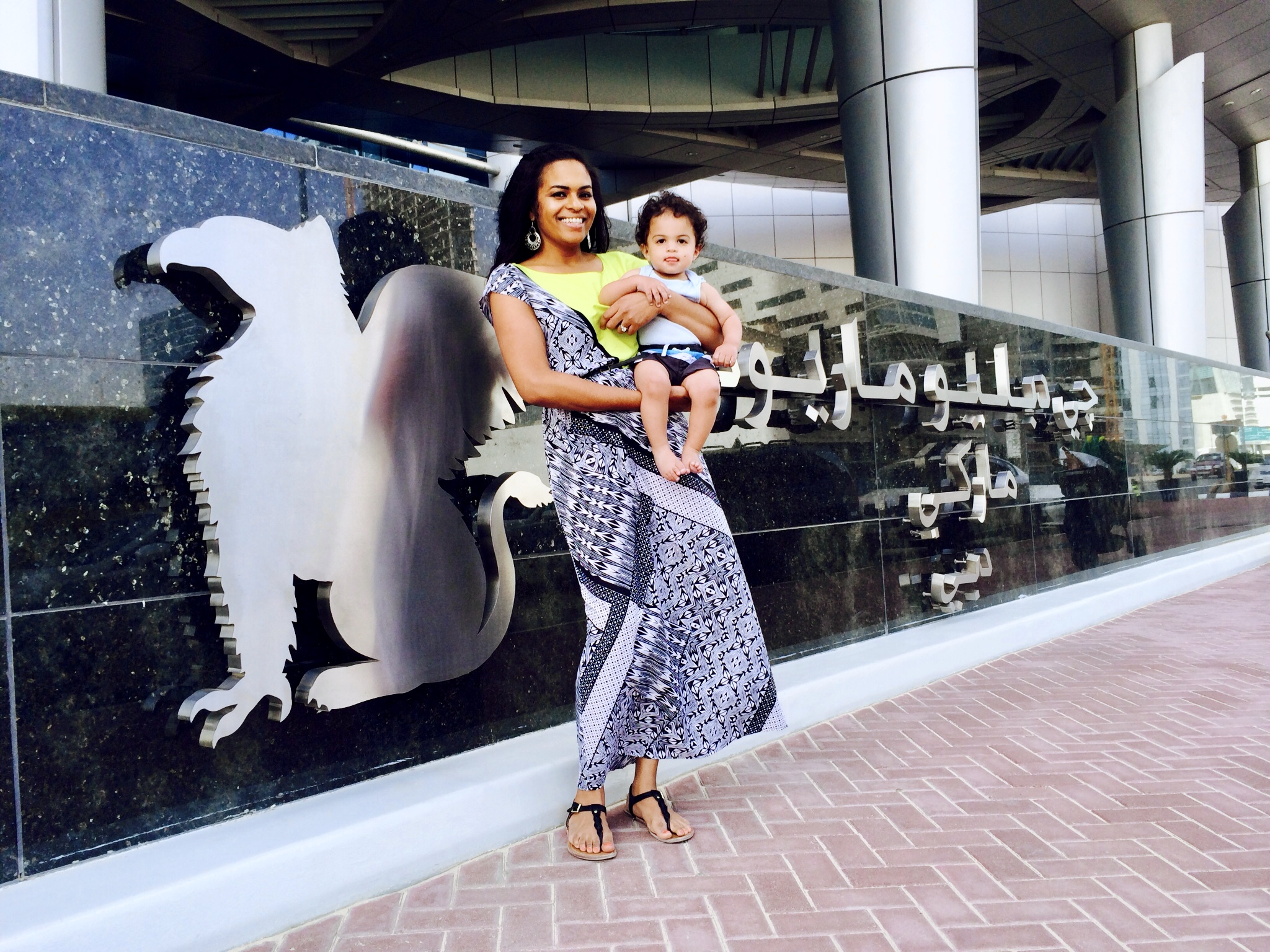 Baby Joshua and Traveling Miya in Dubai