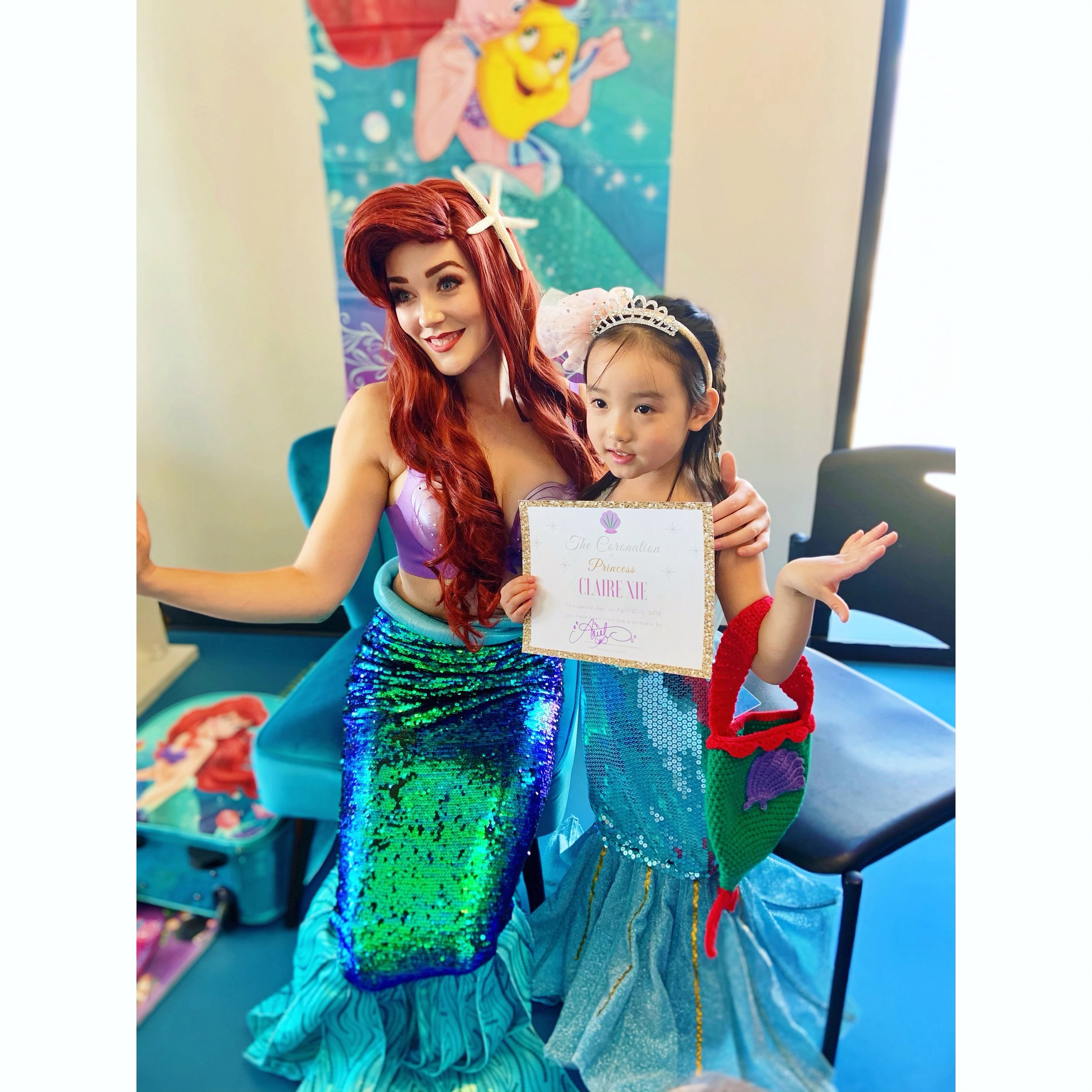 Little Mermaid Birthday Party Coronation