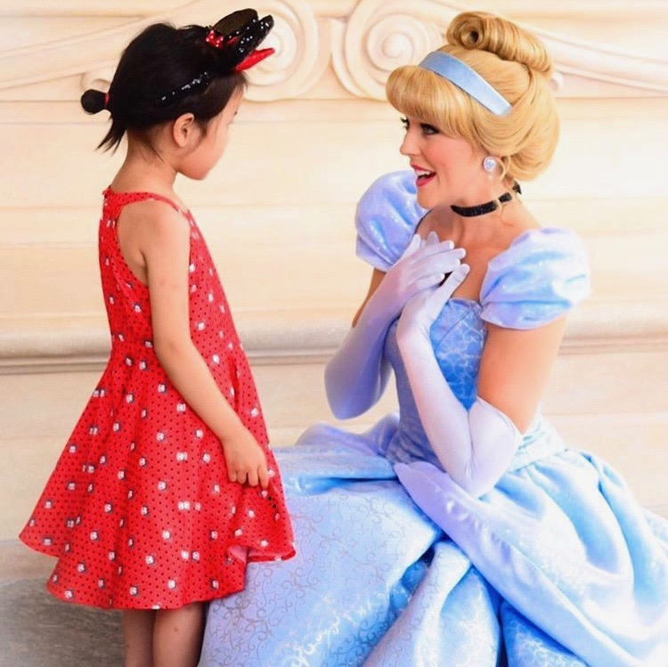 Princess Cinderella and child