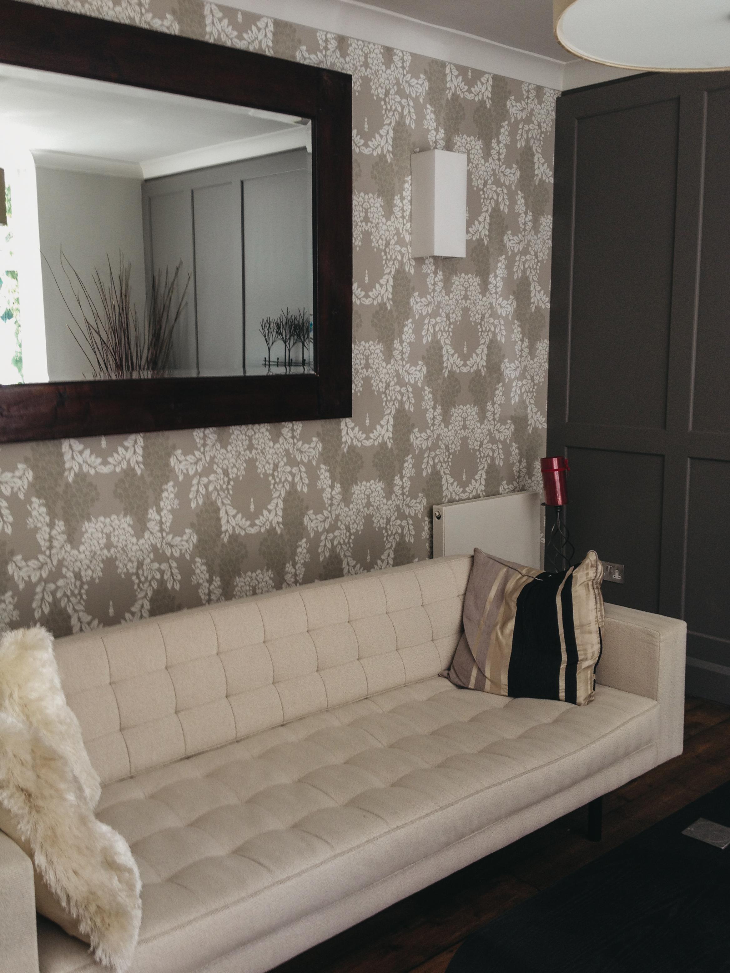 Interior wallpapering