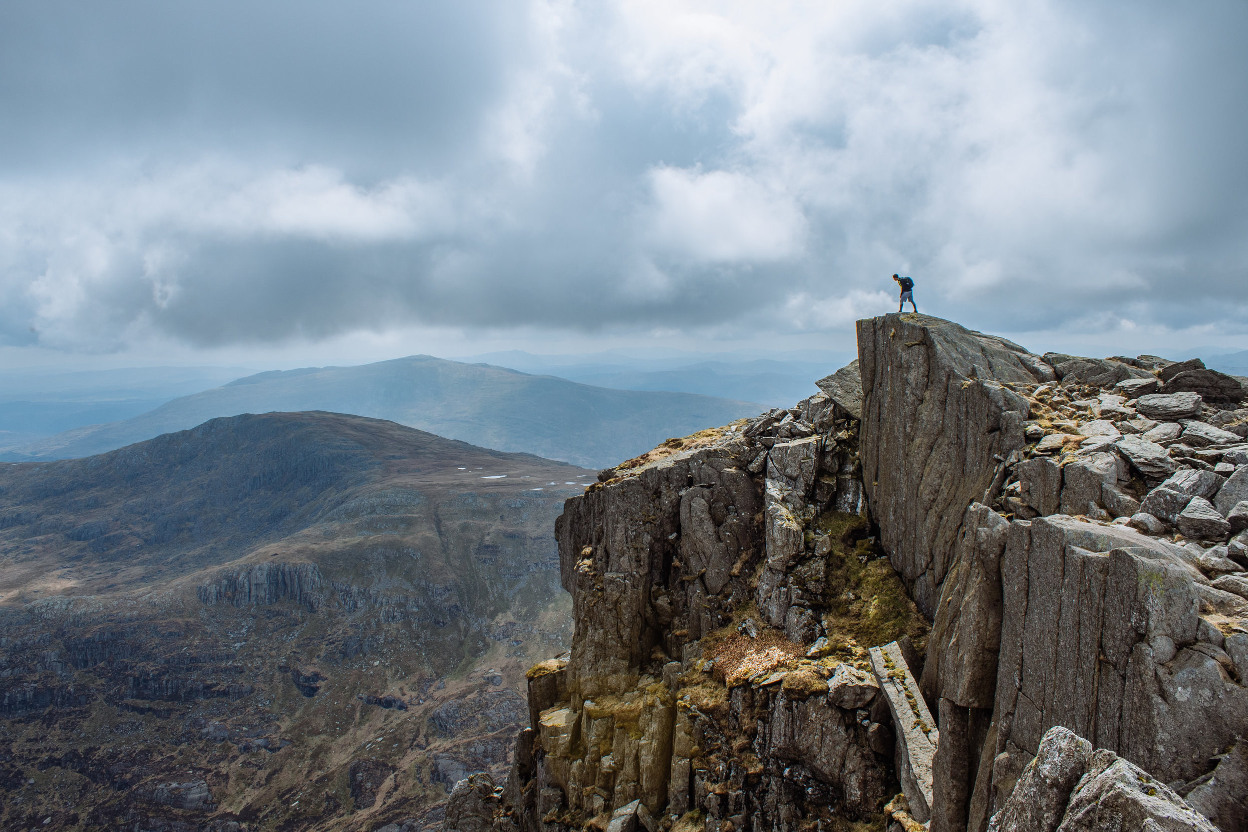The view from the top of Tryfan