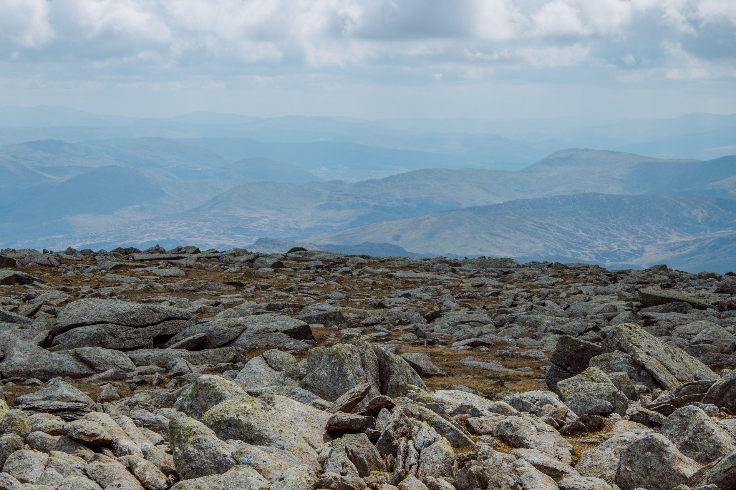 The top of Glyder Fawr is quite flat and very rocky, with some very interesting formations not pictured