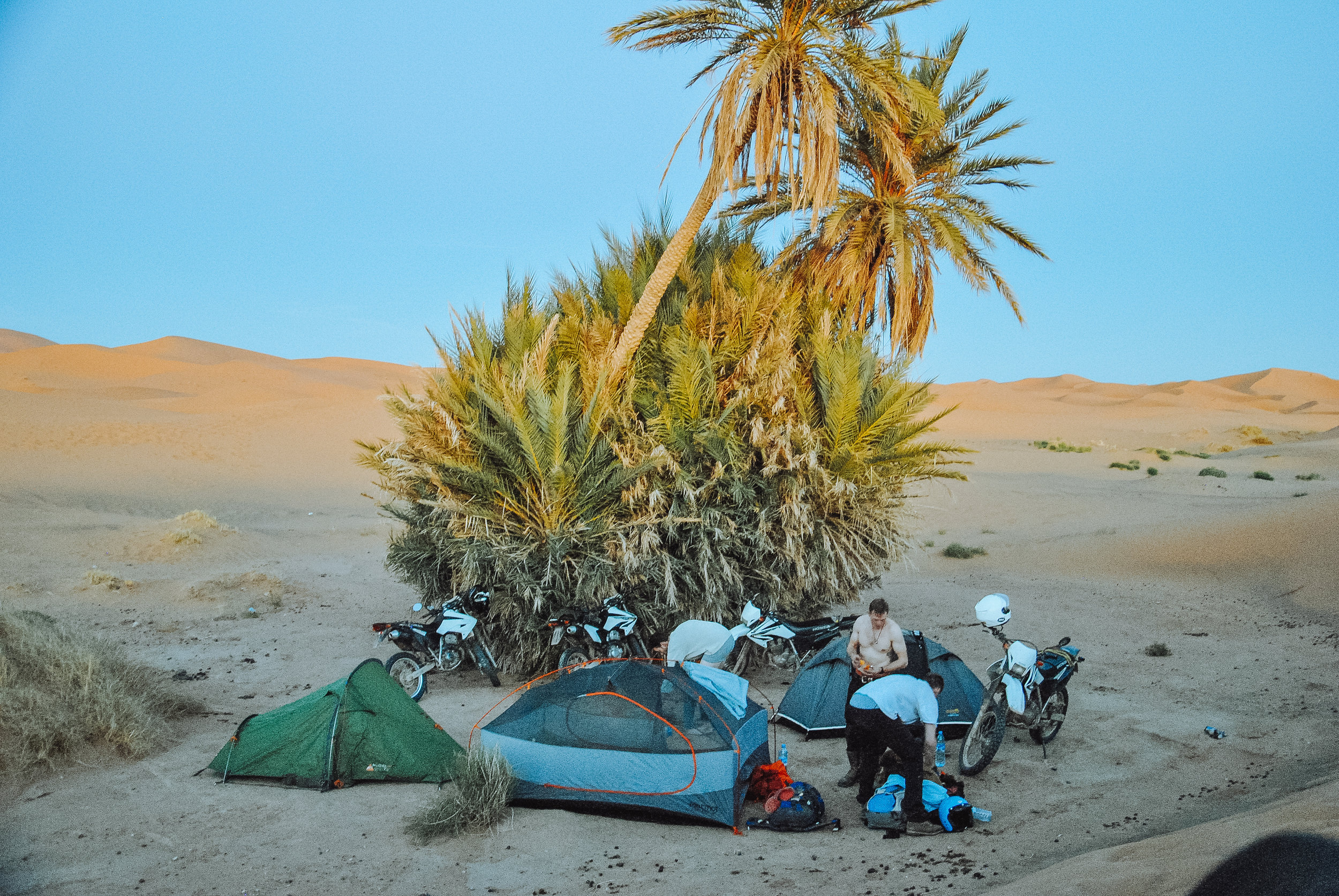 One of my favourite ever camping spots - The Sahara Desert…