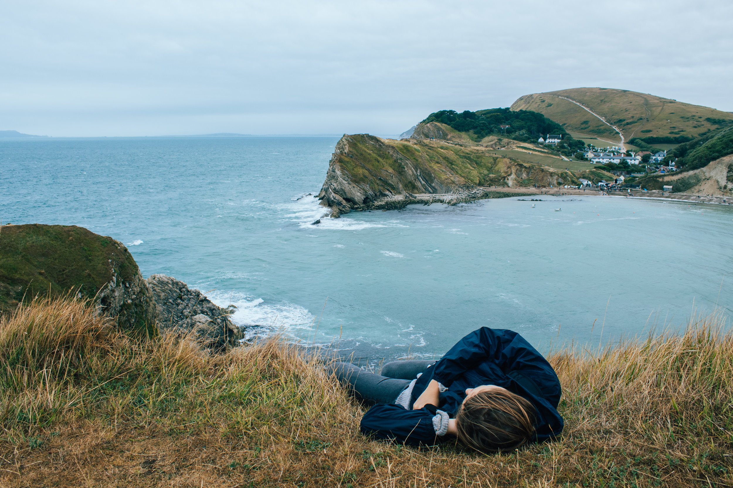 Taking a nap above Lulworth Cove