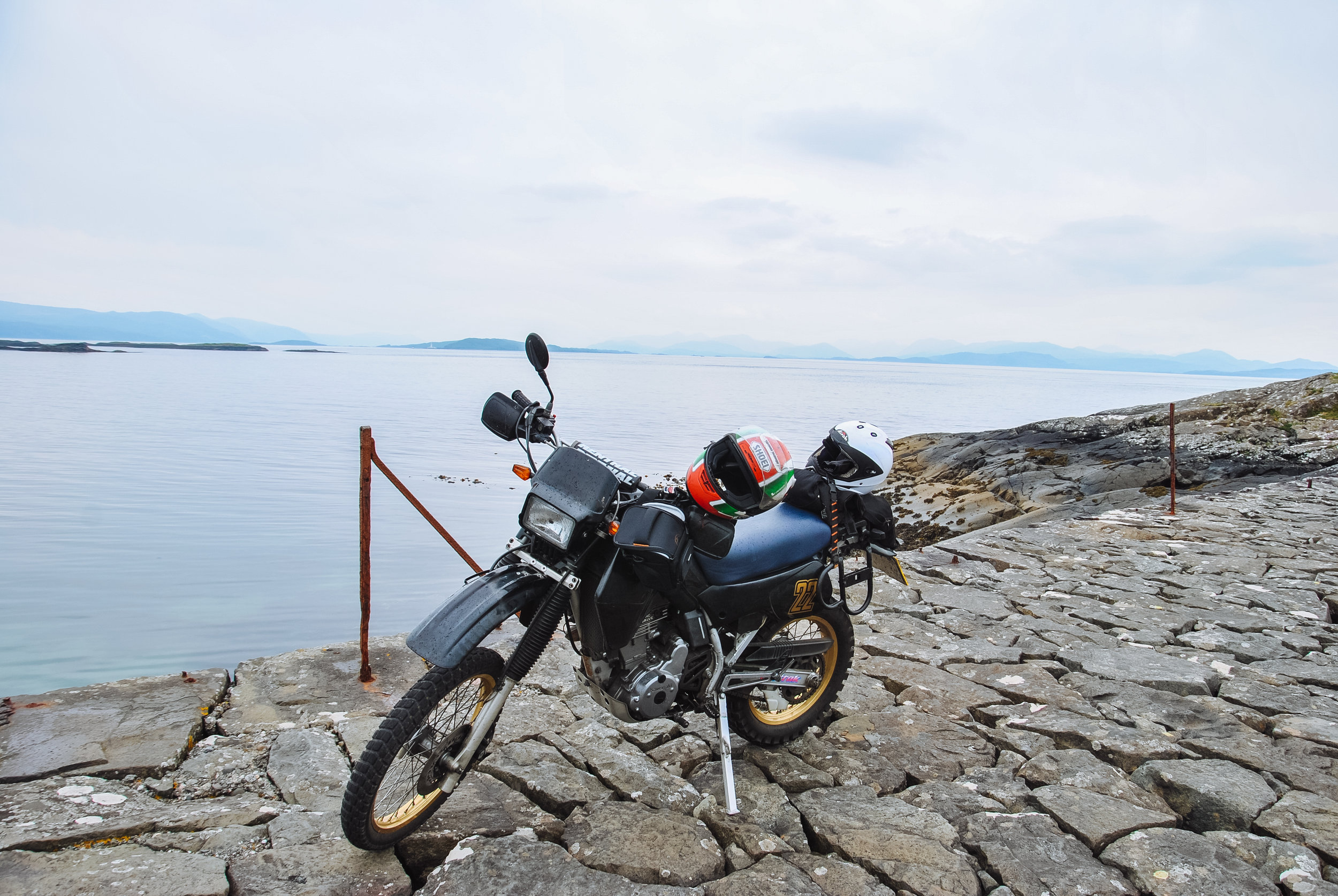 My KLR600 at Grass Point, Mull