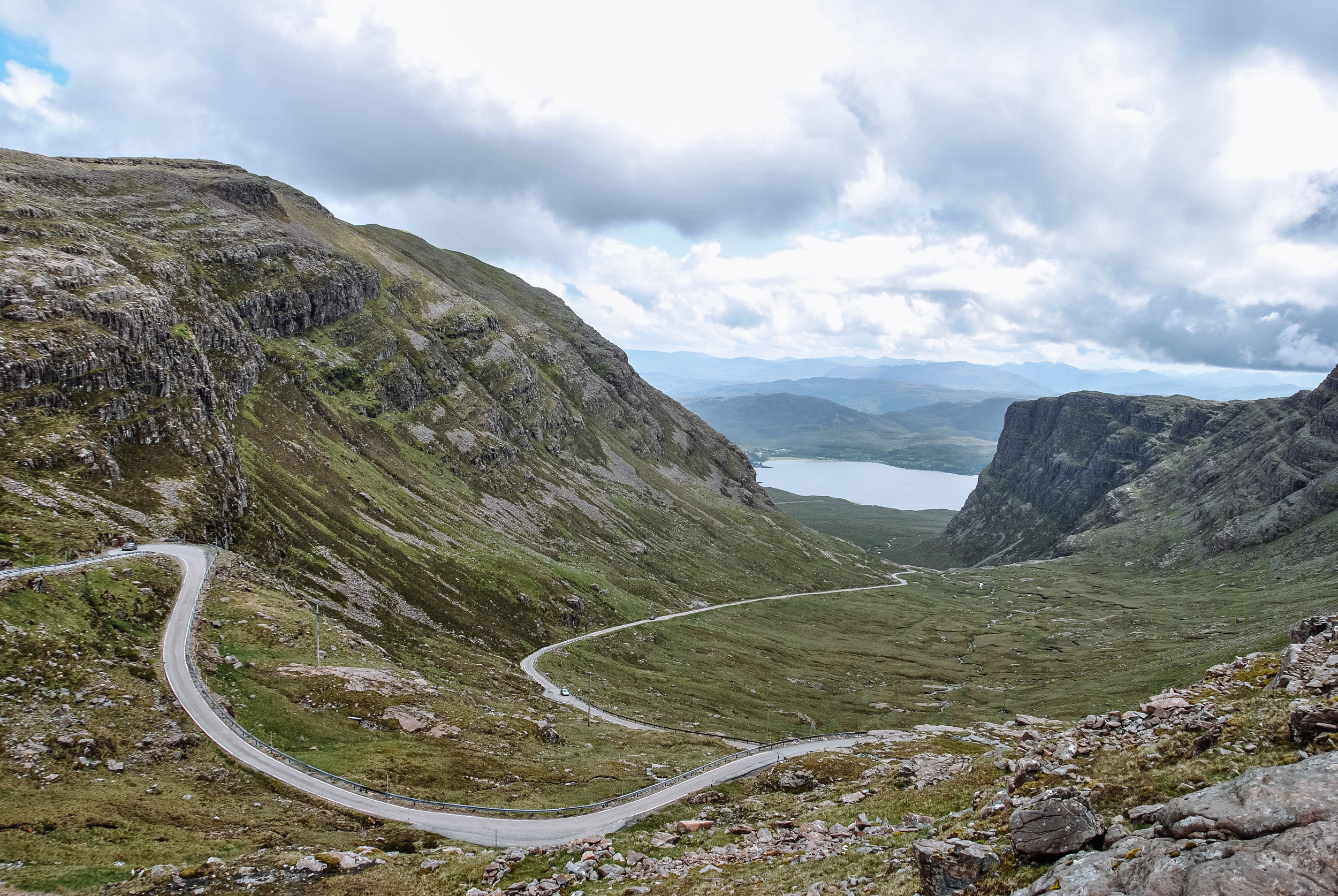 Bealach Na Ba, one of the most amazing roads you can find in the UK which winds up to 626m and over to Applecross