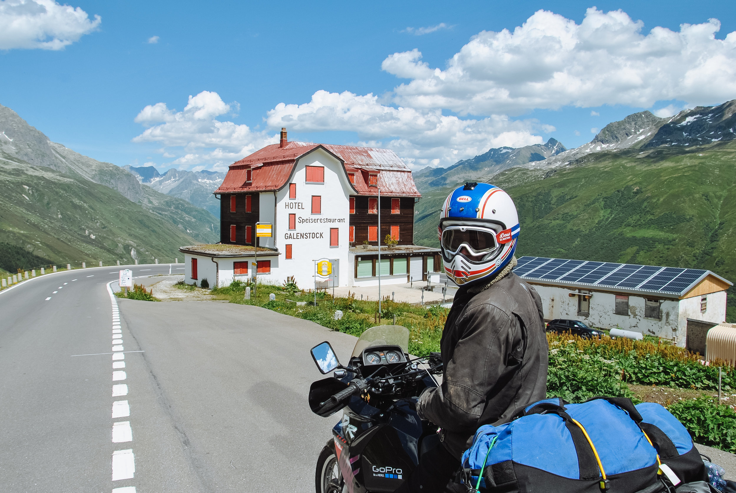 On the other side of the Furka Pass