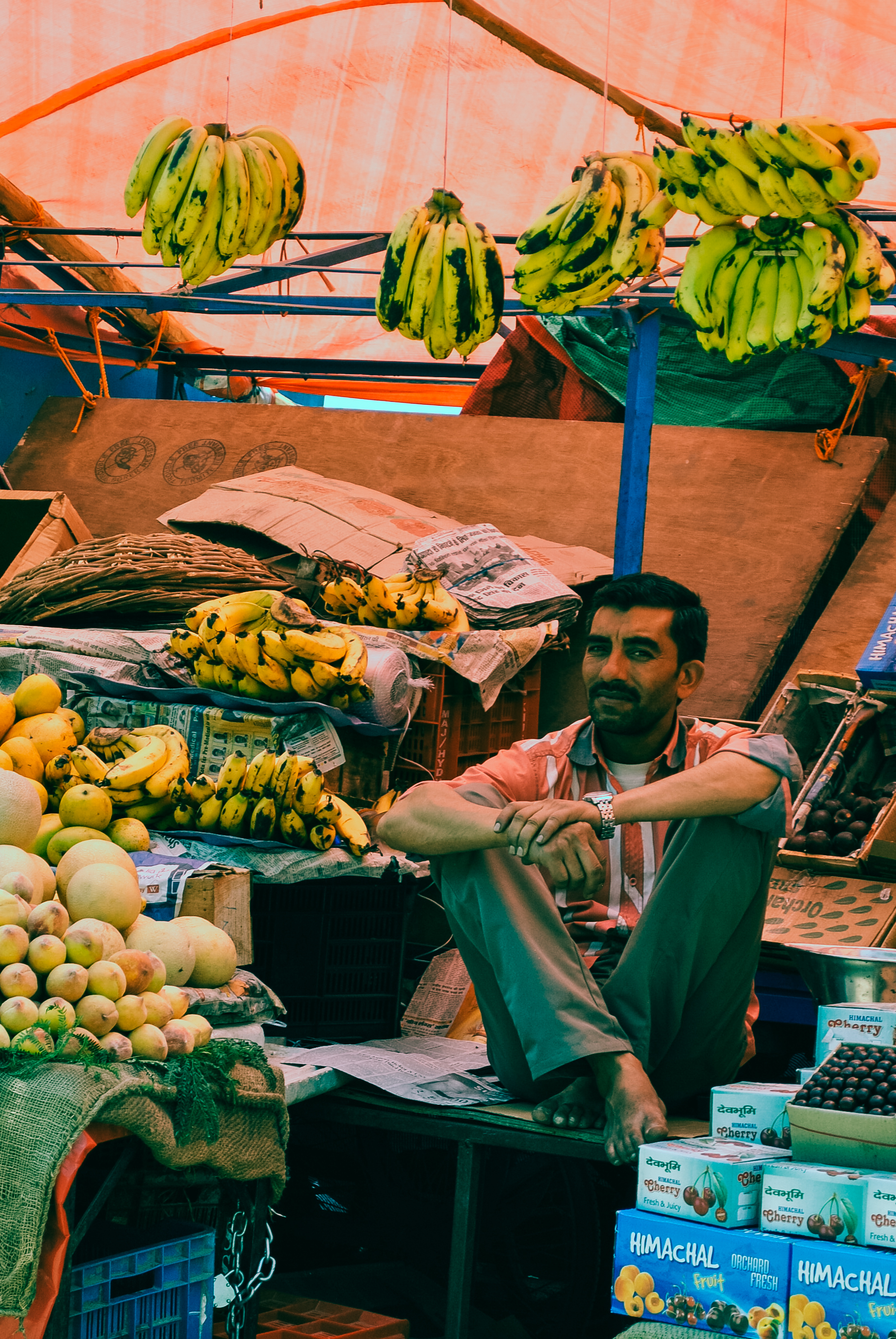 Fruit stall near Shimla