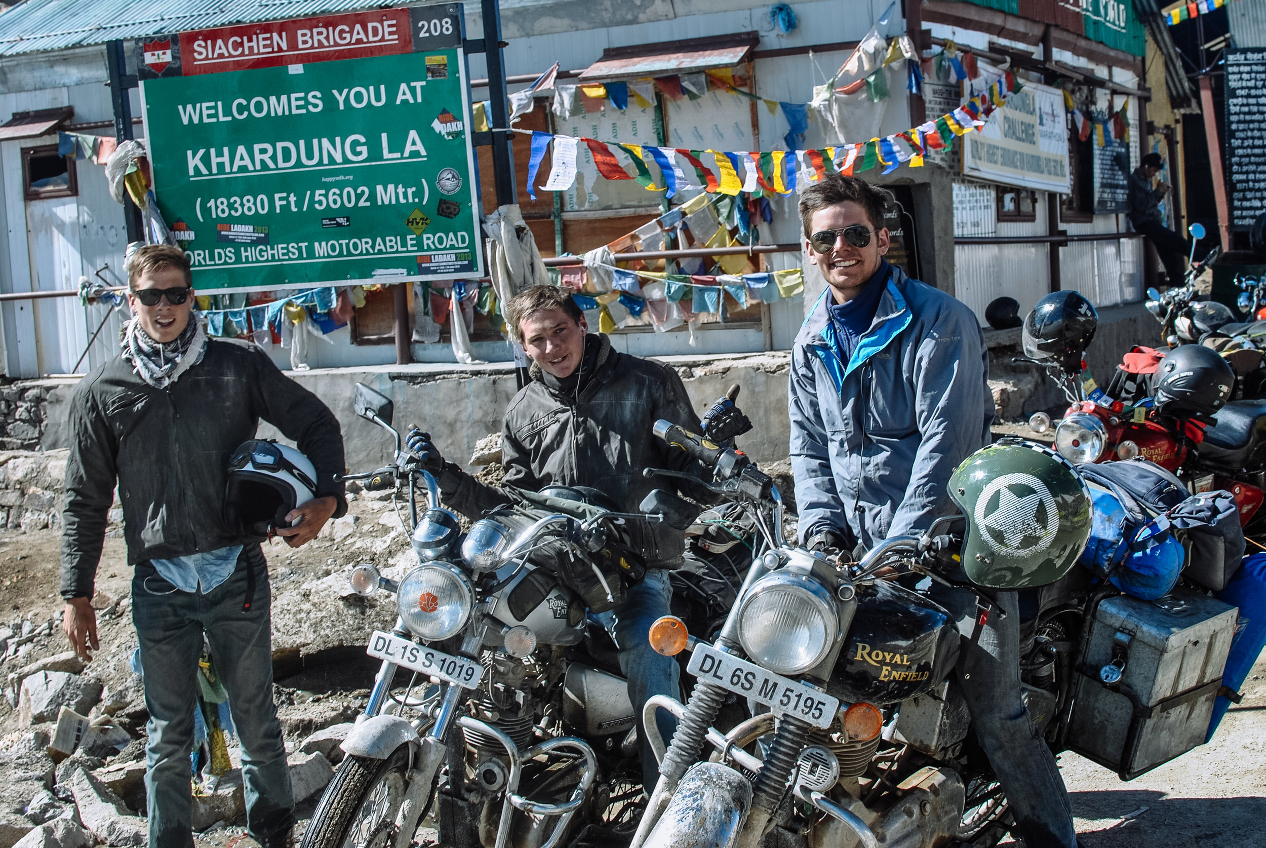 At the top of the Khardung La