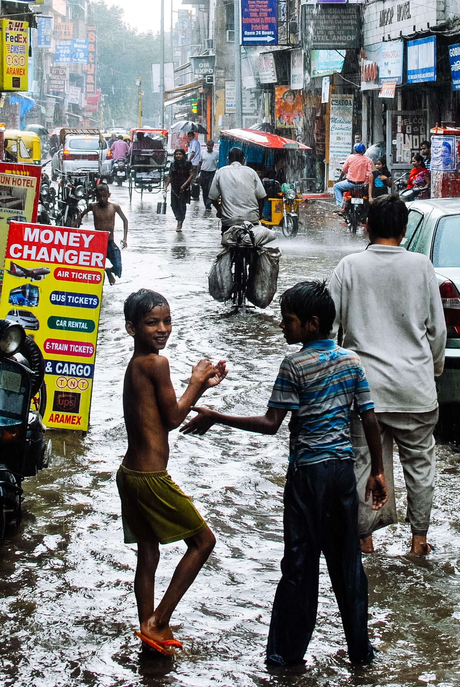 Downpours in Delhi