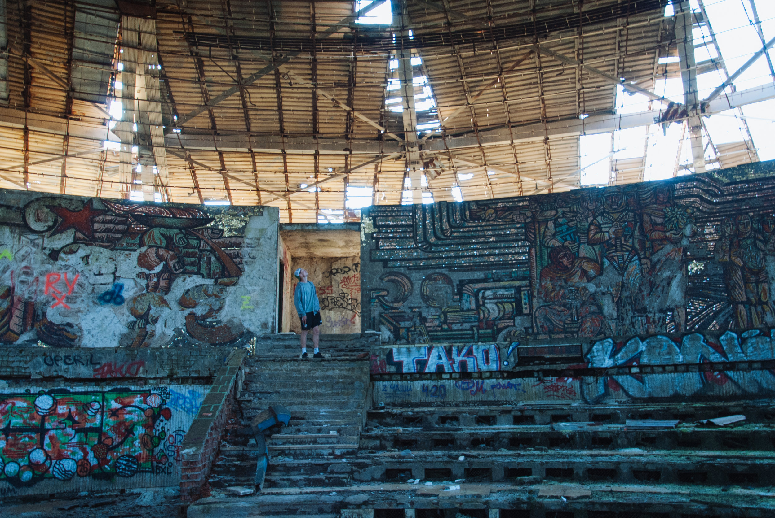 Graffiti and Communist Mosaics