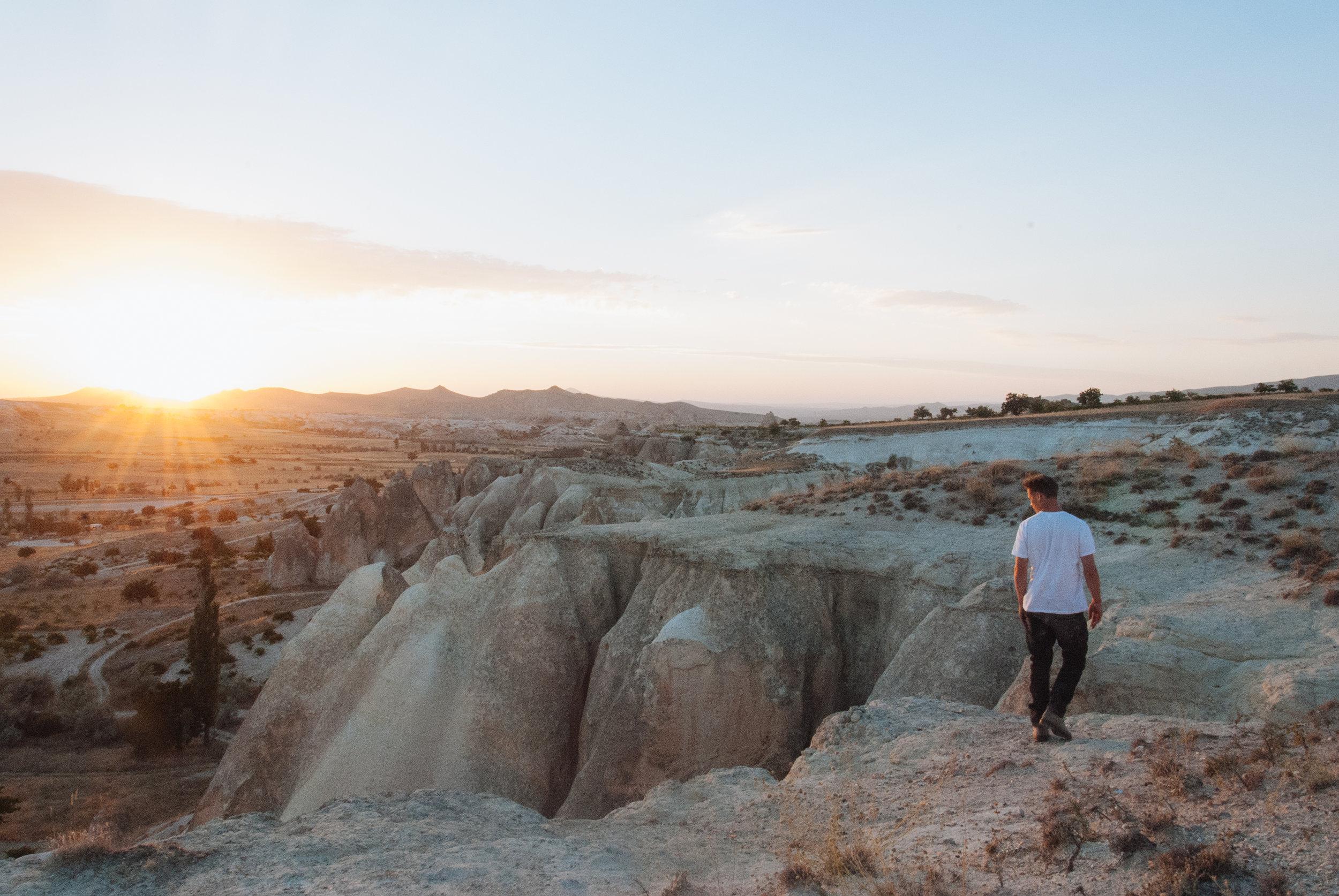 Sunset above Rose Valley, Cappadocia
