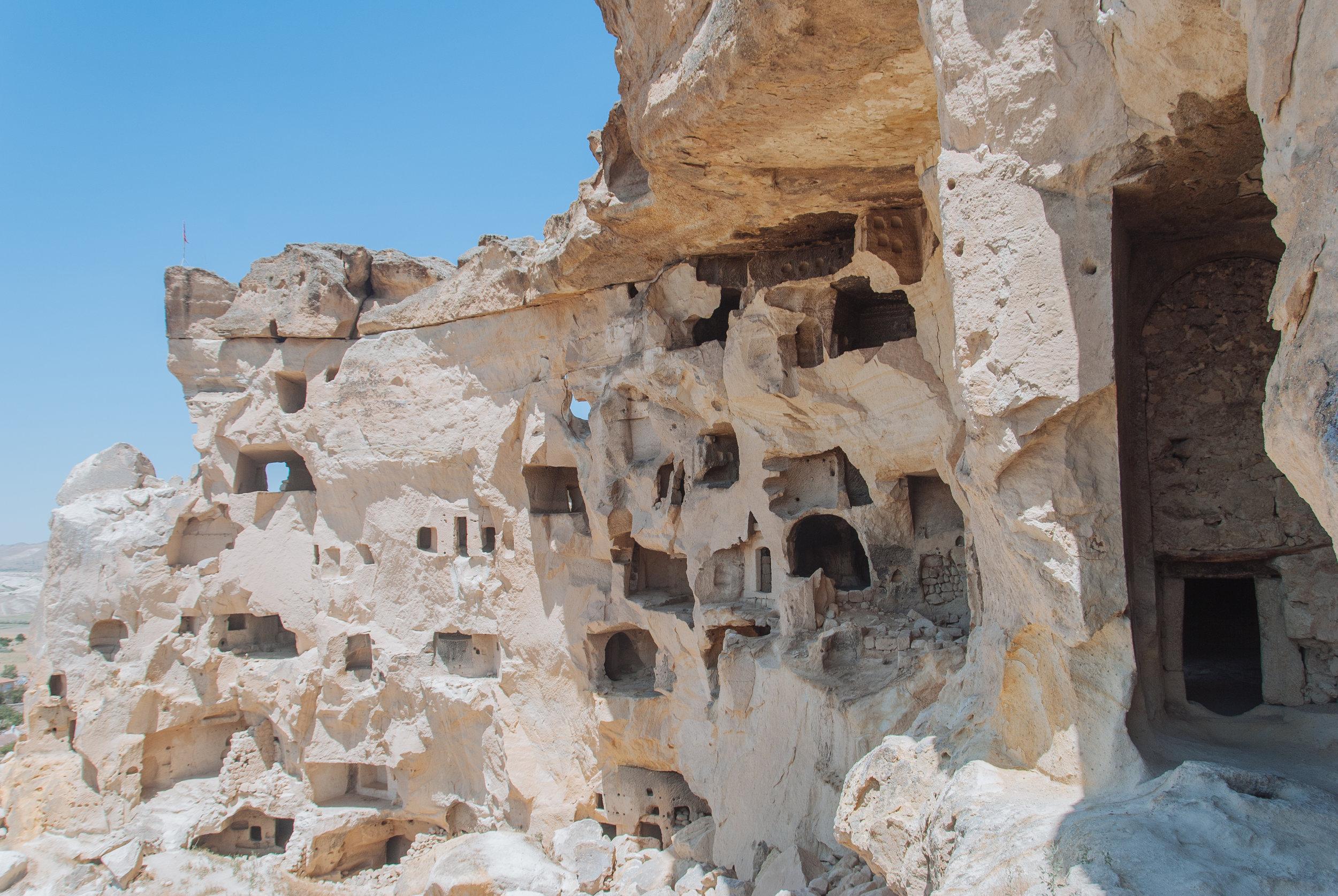 Ancient cavetown near Goreme