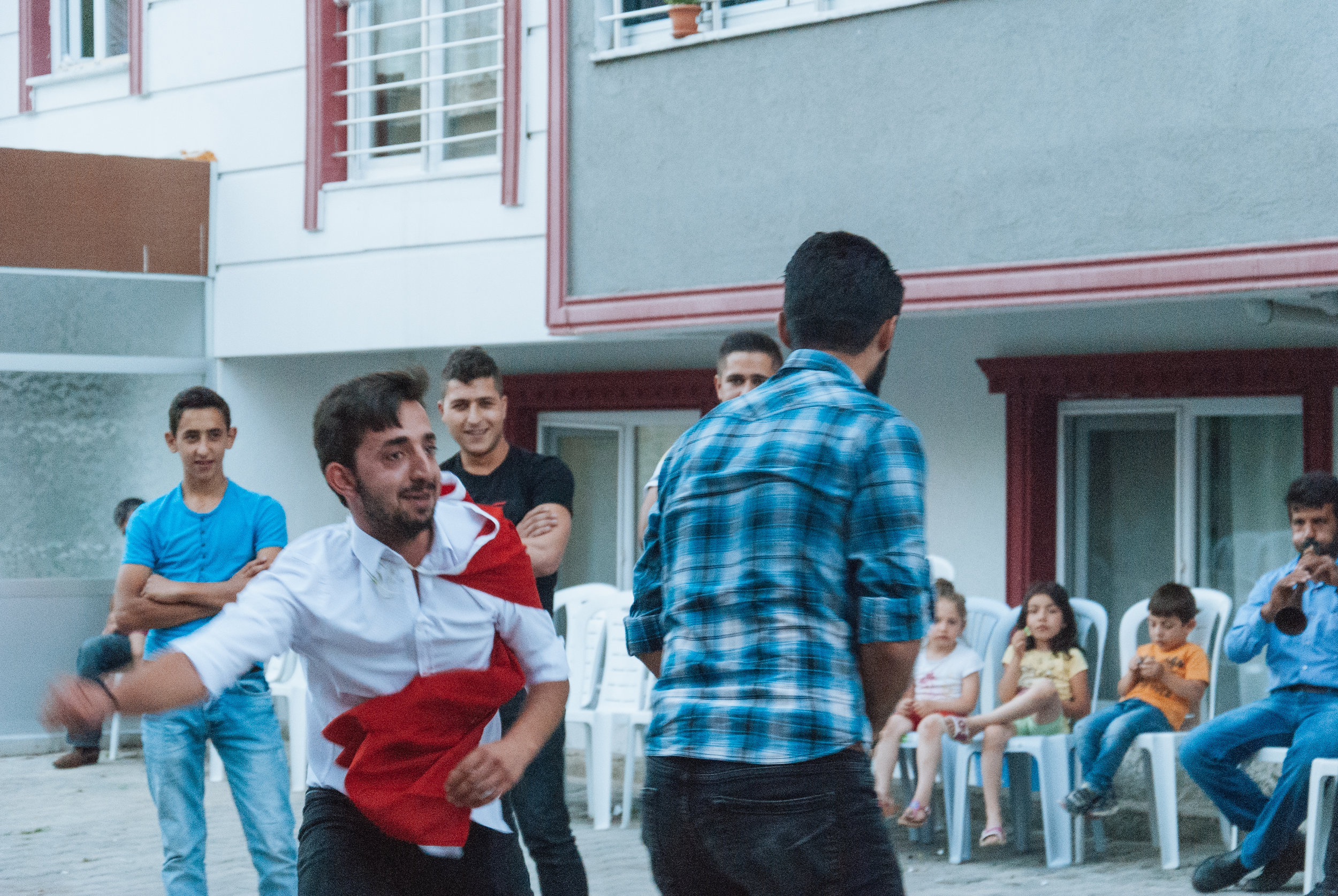 The punching dance