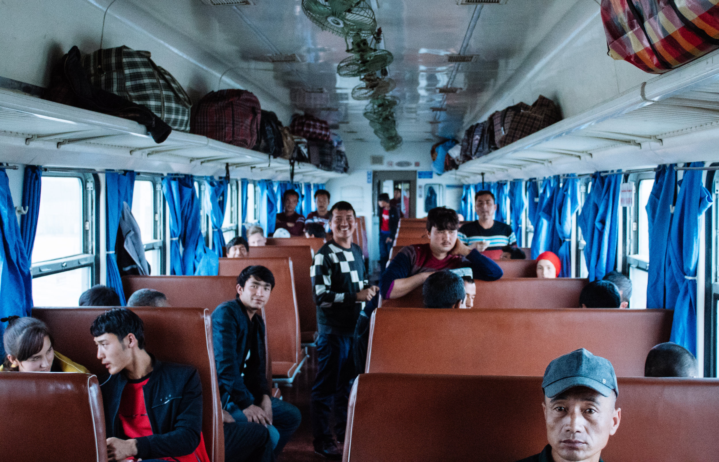 Taking the train to Hotan from Kashgar