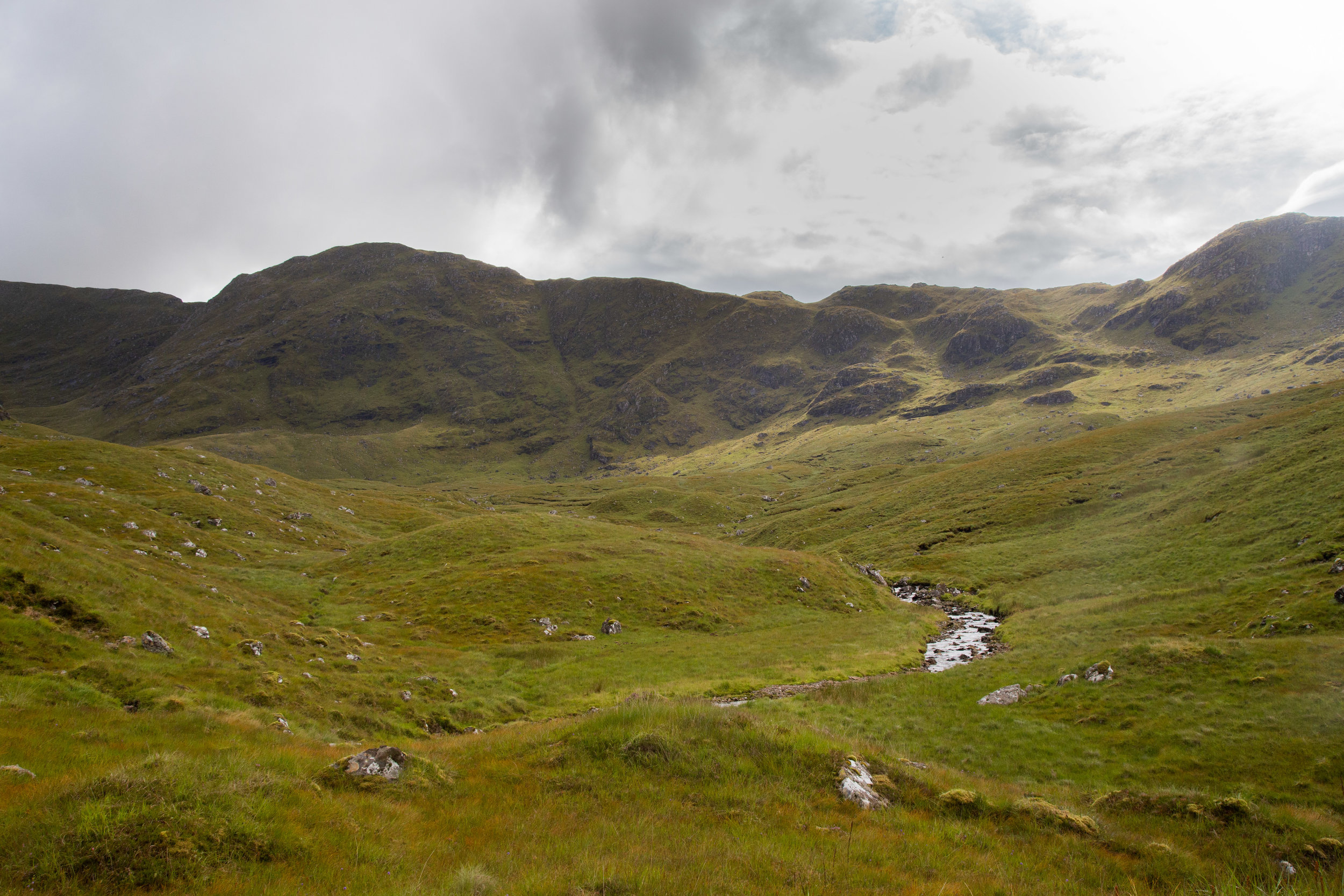 The glen at the bottom of Ladhar Bheinn